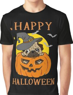 Happy Halloween For Pug Dog Lover Graphic T-Shirt