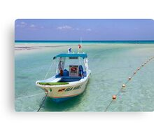 Dive Boat off Avalon (Mia) Bridge - Isla Mujeres Canvas Print