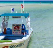 Dive Boat off Avalon (Mia) Bridge - Isla Mujeres Sticker