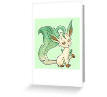 Cute Leafeon Greeting Card