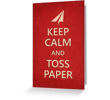 Keep Calm Paper Airplane 21b Greeting Card