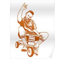 Man on a Tricycle Poster
