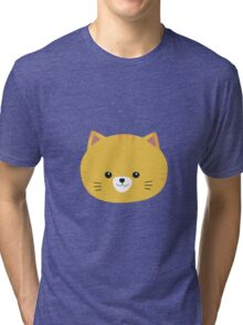 Cute tiger cat with yellow fur Tri-blend T-Shirt