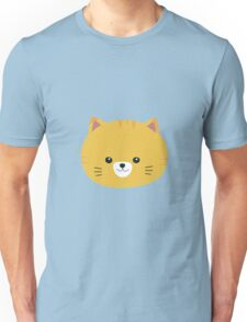 Cute tiger cat with yellow fur Unisex T-Shirt