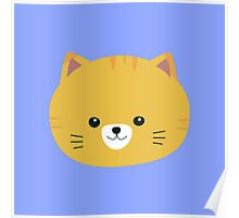 Cute tiger cat with yellow fur Poster