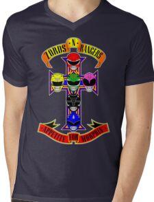 Zords N Rangers Mens V-Neck T-Shirt
