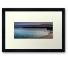 Three cliffs bay sunset Framed Print