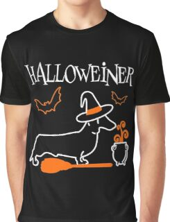 Halloweiner, Funny Halloween Gift For Dachshund Dog Lover Graphic T-Shirt