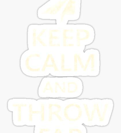 Keep Calm Paper Airplane 21c Sticker