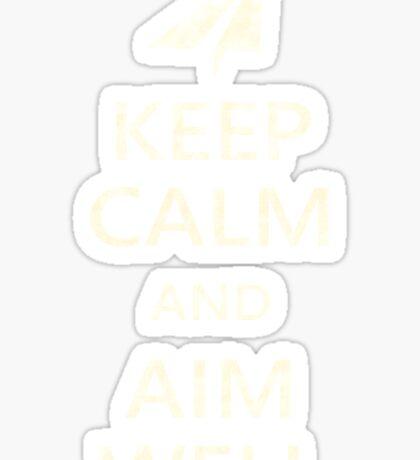 Keep Calm Paper Airplane 21d Sticker