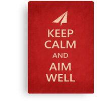 Keep Calm Paper Airplane 21d Canvas Print