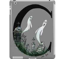 C is for Cemetery Watercolor Painting iPad Case/Skin