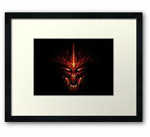 Evil Fire Dragon Design Framed Print