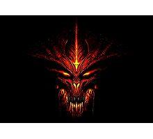 Evil Fire Dragon Design Photographic Print