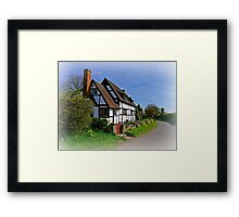 Chocolate Box Cottage (Vignetting Version) Framed Print