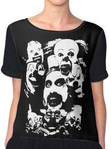 Horror Clown Icons Chiffon Top