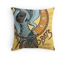 Stay Young With Nanobots! Throw Pillow