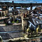 Newcastle Quayside Rooftops by Andrew Pounder