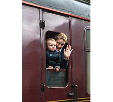 Waving Goodbye Photographic Print