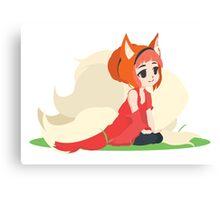 Kitsune Vector Canvas Print