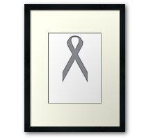 Brain Cancer Awareness ribbon Framed Print