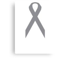 Brain Cancer Awareness ribbon Canvas Print