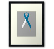 Cervical Cancer Awareness ribbon Framed Print