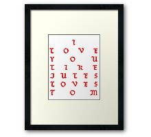 Foxboro Love Framed Print