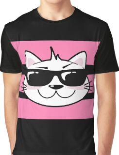 Picto Cat - Badass Kitty Graphic T-Shirt