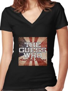 The Guess Who Carl Dixon Bachman Cummings 15 Women's Fitted V-Neck T-Shirt