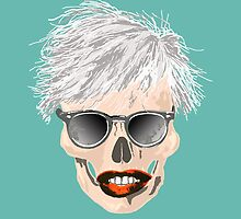 Pop-art Warhol skull by rlnielsen4