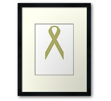 Childhood Cancer Awareness ribbon Framed Print