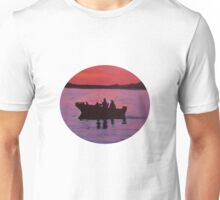 Fishing in the sunset Unisex T-Shirt