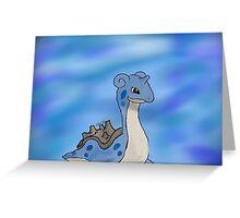Lapras Pokemon Greeting Card