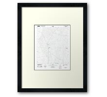 USGS TOPO Map Arkansas AR Holly Springs 20110711 TM Framed Print