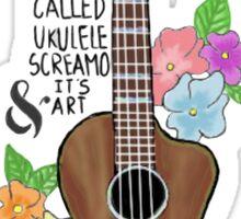 Tøp Ukulele Screamo Sticker