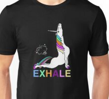 Exhale unicorn Unisex T-Shirt