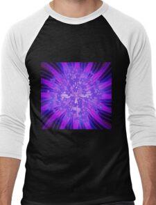 Lavender Flowers in the Sky Men's Baseball ¾ T-Shirt