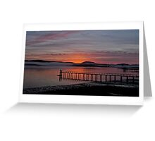 Sunrise Tomales Bay, CA, 2009 Greeting Card