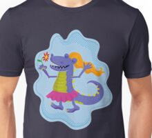 Cute Lady Monster with Flower Unisex T-Shirt