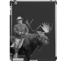 Teddy Roosevelt Riding A Bull Moose iPad Case/Skin