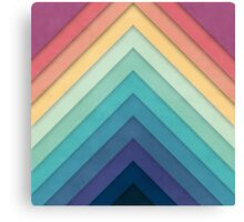 Retro Chevrons 002 Canvas Print