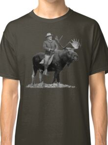 Teddy Roosevelt Riding A Bull Moose Classic T-Shirt