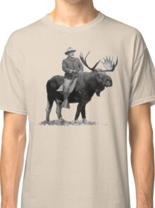 Teddy Roosevelt Riding A Bull Moose Classic T-Shirt