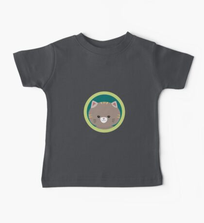 Cute tiger kitty with green circle Baby Tee