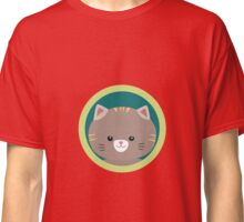 Cute tiger kitty with green circle Classic T-Shirt