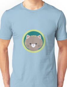 Cute tiger kitty with green circle Unisex T-Shirt