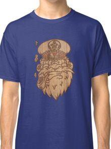 Captain Salty on Wood. Classic T-Shirt