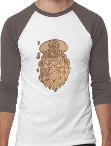 Captain Salty on Wood. Men's Baseball ¾ T-Shirt