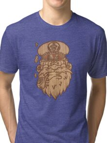 Captain Salty on Wood. Tri-blend T-Shirt